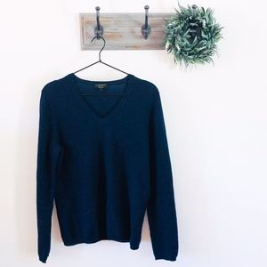 Charter Club Navy Cashmere Sweater L